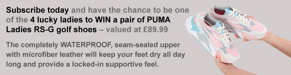 WIN A PAIR OF PUMA LADIES RS-G GOLF SHOES WITH WOMEN IN BUSINESS AND GOLF